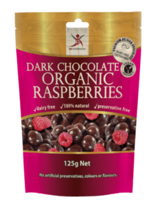 Dark Chocolate Organic Raspberries <br>(Dairy Free)